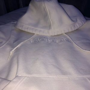 White on white adidas sweatshirt